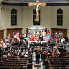 Johns Creek Symphony Orchestra Rehearsal : J. Wayne Baughman, founder, music director and conductor of the Johns Creek Symphony Orchestra, led the orchestra during a Nov. 29 rehearsal for the orchestra's Dec. 1 Christmas Gala and Holiday Pops Concert. Baughman also serves as the music director at St. Benedict Church, Johns Creek, site of the annual concert.