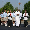 Fifth Annual Eucharistic Procession : Queen of Angels School, Roswell, conducted its fifth annual Eucharistic Procession on April 29.