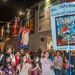 St. Michael Church in Gainesville brings a group by bus each year to the Eucharistic Congress. This year, the group was comprised of half adults and half middle school students. They partici ...
