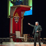 Father Larry Richards speaks in the English track Saturday afternoon about challenging Catholics in the faith to spend more time before the Blessed Sacrament.The Eucharistic Congress brought ...